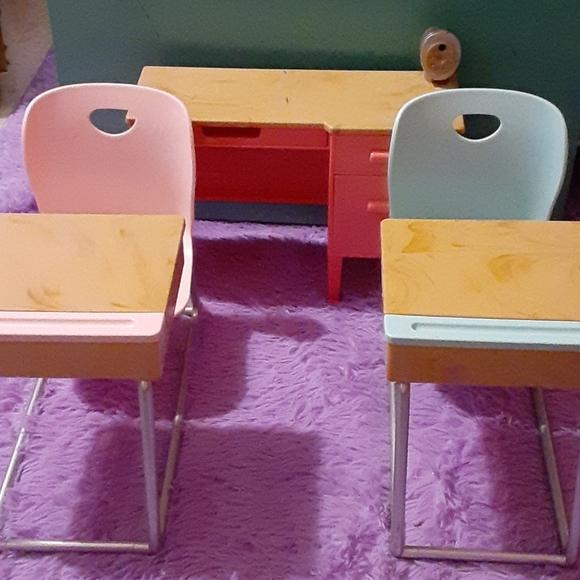 Our Generation 18 inch girl doll school desk set
